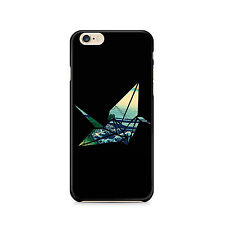 Crane origami cell phone case in BLACK, Japanese art, iphone, 6, Samsung Galaxy