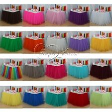 Tulle TUTU Table Skirt Tableware Wedding Xmas Baby Shower Birthday Party Decor