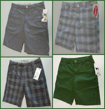 "Boy's Mambo Australia Shorts Size 10 or 12, Inseam 10"" Solids or Plaid, New $36"