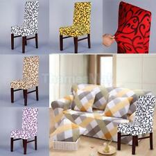 Various Elastic Floral Scretch Short Dining Room Chair Seat Cover Slipcover