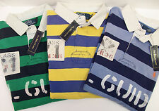 Polo Ralph Lauren Striped French Rib Rugby Shirt $145 C1 K1 Kayak Exp. Guide NWT