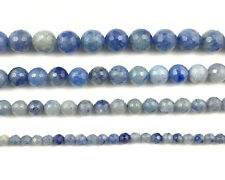 natural gemstone blue aventurine bead round faceted loose beads 4mm 6mm 8mm 10mm