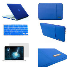 Rubberized hard case keyboard cover screen protector For Macbook Pro Air Retina