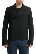 Rick Owens Men's Black Virgin Wool Button Down Jacket US S L