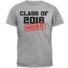 Graduation - Class of 2016 Nailed It Heather Grey Adult T-Shirt
