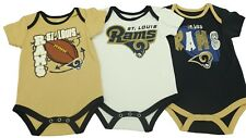 NFL New St. Louis Rams official Infant Baby 3 Piece Creeper Bodysuit NEW