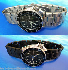 TAURUS SOLID SS DIVER'S WATCH BAND BRACELET 20mm 22mm 24mm FOR SEIKO & CITIZEN