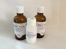 DMAE Serum and Vitamin C  Powder, Antioxidant, Firming -- Choose Your Own Size.