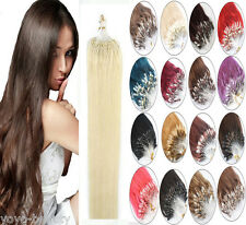 Loop Micro Ring Bead Tipped 100% Remy Human Hair Extensions 16''18''20''22''100S