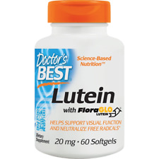 Doctor's Best Best Free Lutein Feat FloraGlo with Zeaxanthin 20 mg 60 Softgels