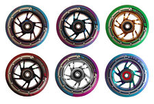 Team Dogz Pro 100mm Alloy Chrome Core Stunt Scooter Wheel Bearings & Spacers inc