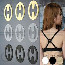 RACER BACK BRA CONVERTER CLIP & CLEAVAGE ENHANCER BLACK CLEAR & NUDE 1 & 3 CLIPS