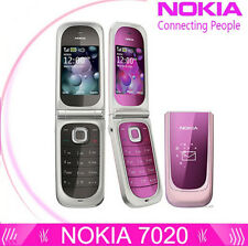 Classic Nokia 7020 -Pink&Gary (Unlocked)Clamshell Flip Cell Phone MP3 2MP GPRS