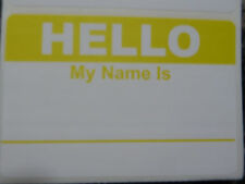 "PICK YOUR COLOR! Hello My Name Is Tag Labels Pleasure to Meet You 3.5"" x 2.375"""