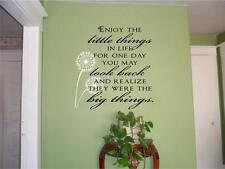 Enjoy The Little Things In Life Vinyl Wall Decal Sticker Words Quote Lettering