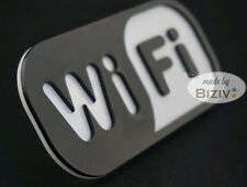 Acrylic Free WiFi Internet Window Door Decal Sticker Cafe Shop Sign Black White