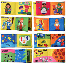 Educational Intelligence Development Soft Cloth Learn Cognize Book For Kid Babys