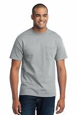 Port & Company Men's 5.5oz 50/50 Cotton/Poly T-Shirt with Pocket #PC55P S-6XL