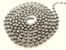 Silver Tone Ball Chain 2.4mm Jewellery Craft Necklace Beading Findings ML