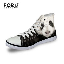 Aniaml Owl Wolf Print Womens Mens High Tops Canvas Sneakers Casual Walking Shoes
