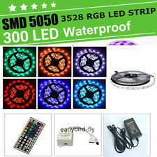 12V 5M 3528/5050 SMD 300 LEDs Light Waterproof Flexible Strip Lighting  DC Power