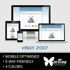 eBay Listing Template Professional Auction Design Mobile Friendly HTML 2017 *4R