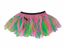 "Ladies 12"" Festival of Colour Cyber Rave Tutu Burning Man Festival Wear Uk Made"