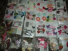 Gymboree Summer Hair Accessories 2 or 4 Barrettes Clips Girl age 2 3 4 5 6 7 NEW