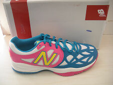 NEW BALANCE GIRLS -CHILDREN TENNIS SHOES- SNEAKERS- #KC996PBY -WHITE/TURQ/ PINK