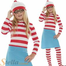 Girls Wenda Costume Wheres Wally Fancy Dress Book Day Child Outfit