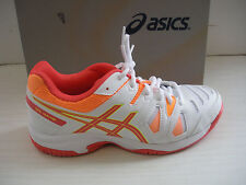 ASICS KIDS- GIRLS TENNIS SHOES- SNEAKERS GEL-GAME 5 GS- C502Y- 0106- WHITE/CORAL
