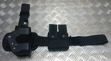 Genuine British Military Police Issue Uncle Mike's Sidekick Dropleg Holster 9MM