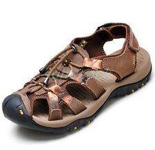 Men's Sport Leather Sandals Casual Shoes Fisherman Outdoor Sandals Shoes US 5-11