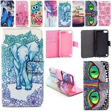 Wallet Flip Leather Stand Card Slots Case Cover For Apple iPod Touch 5th 6th Gen