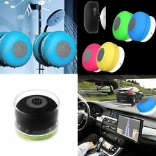 Waterproof Bluetooth Wireless Speaker Music Mic Handsfree Suction Car Shower