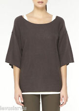 Vince 3/4 Wide Sleeve Cashmere Knit Sweater Pullover Size M NWT $245 Brown