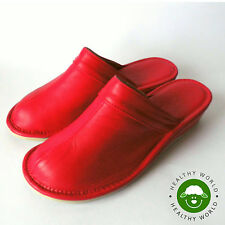 Women's Shoes, REAL LEATHER-CALFSKIN, Slippers, WEDGE HEEL, Closed Toe