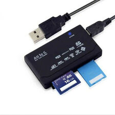 All in One External USB Memory Card Reader SD SDHC Fine Micro M2 MMC XD CF MS