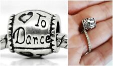 Love to dance Dancing Daughter dance charm bead fit for European charm bracelet