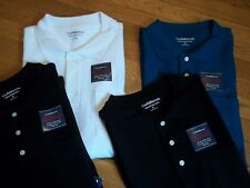 2 NWT,  $52. MSRP,  Mens Croft & Barrow Golf Polo Shirts 100% Cotton.