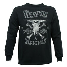 WAYLON JENNINGS DRINKIN DREAMIN COUNTRY BAND PUNK ROCK MUSIC L/S T TEE SHIRT