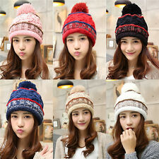 Fashion Women Girls Warmer Winter Ski Beanie Knit Crochet Baggy Hats Cap Hot 198