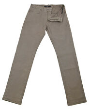 New $400 Incotex Beige Solid Pants - Slim - (40316919)