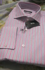 NWT HUGO BOSS SHIRT FRENCH CUFF SHARP(TRIM) FIT YR ROUND COTTON $135