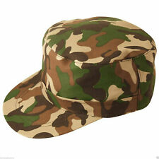 Unisex Army Camouflage Cap Camo Soldier Hat Fancy Dress Accessory