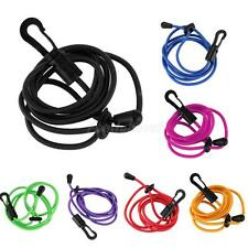 Durable Elastic Kayak Canoe Boating Paddle Leash Clip Safety Fishing Rod Tether