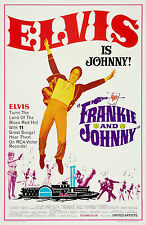 """""""FRANKIE AND JOHNNY"""" ELVIS PRESLEY .Classic Movie Poster A1A2A3A4 Sizes"""