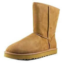 Ugg Australia Classic Short Men  Round Toe Suede Tan Winter Boot