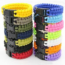 Paracord Survival Bracelet Outdoor Camping Hiking Emergency Cord Wristband Rope