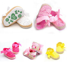 11-13cm Baby Infant Kids Girls Soft Sole Crib Toddlers Shoes Newborn 0-18 Months